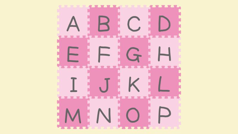 アルファベットが描かれたジョイントマット