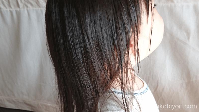 ハーブガーデンコンディショナーを使用した子どもの髪